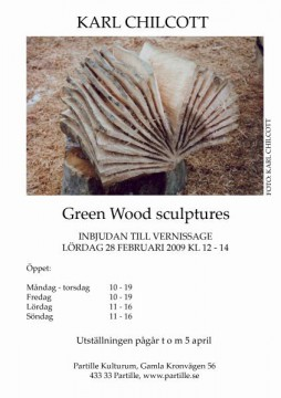 Green Wood sculptures